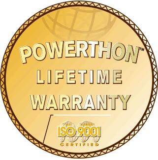 Logo for Powerthon Lifetime Warranty